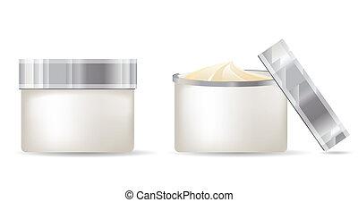 Milchbehälter isoliert auf weißem Hintergrund