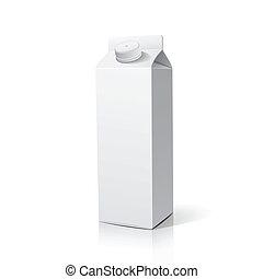 Milchpackungen.