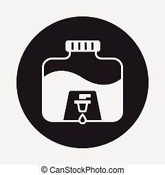 Mineralwasser Ikone.