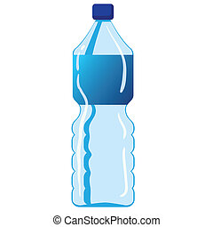 Mineralwasserflasche.