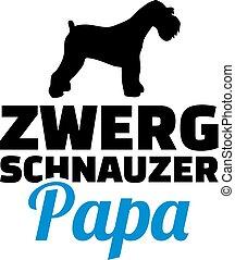 Miniatur-Schnauzer Dad Silhouette Deutsch.