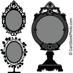 Mirror ornate Old Vintage Prinzessin