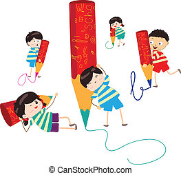 Mit Bleistift.