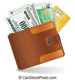 Mit Dollar und Kreditkarten.