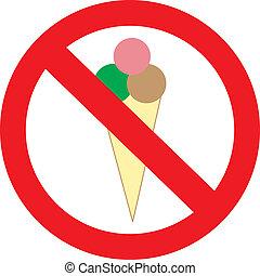 Mit Eis, das man nicht betreten darf, ein Zeichen