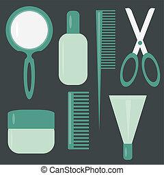 Mit Haarpflege-Oberteilten auf Schwarz