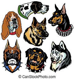 Mit Hundeköpfen Symbole.