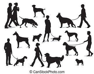 Mit Hunden