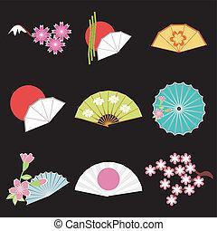 Mit japanischen Objekten