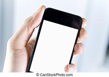 Mit leerem Smartphone