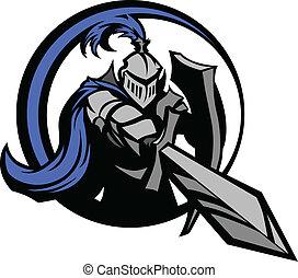 Mittelalter Ritter mit Schwert und Shie