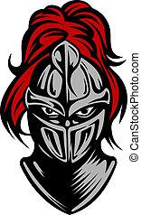 Mittelalterlicher, dunkler Ritter