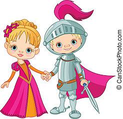 Mittelalterlicher Junge und Mädchen