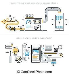 Mobile App Entwicklungskonzepte.