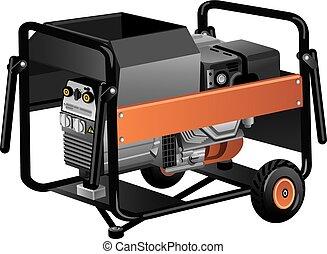 Mobile Energiegenerator.