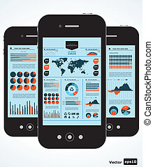 Mobile Infographic. Diagramme a