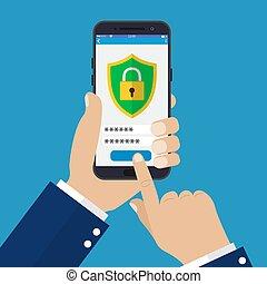 Mobile Security App auf Smartphone-Bildschirm.