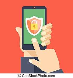 Mobile Security App auf Smartphone