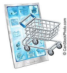 Mobile Shopping App Konzept.