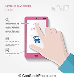 Mobile Shopping-Konzept.