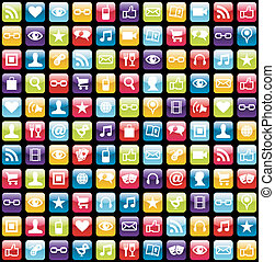 Mobile Telefon-App-Ikonenmuster-Hintergrund