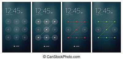 Mobile UI Entriegelung.