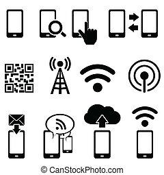 Mobile und Wifi-Icon-Set