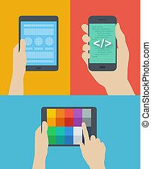 Mobile Web Design flache Illustration