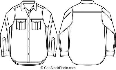 Mode-Männer-Hemd-Illustration