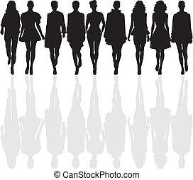 mode, silhouette
