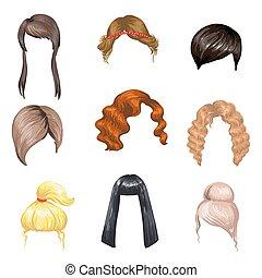 Mode weibliche Frisuren.