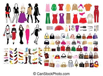 Modeelemente für Frauen