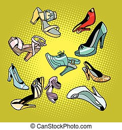 Modefarbene Damenschuhe