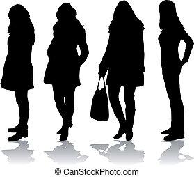 Modefrauen.