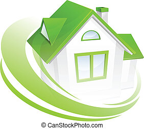Modell des Hauses mit Kreis