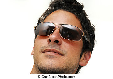 modell, mann, sonnenbrille