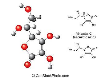 Modell und chemische Formeln und O.