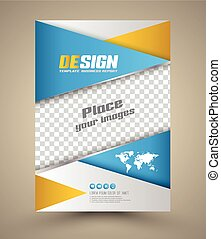 modern, brochure., vektor, abstrakt