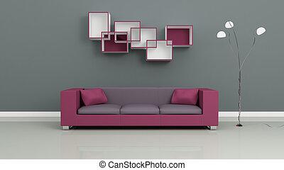 modern, interior.