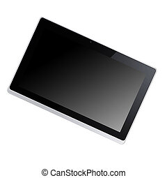 modern, schwarz, tablette