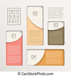 Moderne, abstrakte Papierbartkarte infographic.