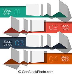 Moderne Design-Infografik-Temperaturen-Origami-Stil