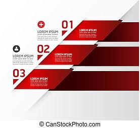 Moderne Design-Vorlage / kann für Infographics / nummerierte Banner / horizontale Schnittlinien / Grafik- oder Website-Layout-Vektor verwendet werden.