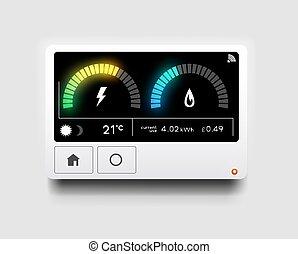 Moderne Energie-Heimuhr