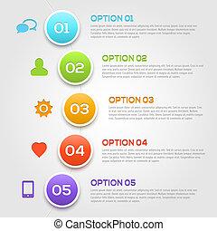 Moderne Infographics-Optionen zeichnen sich aus.