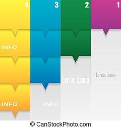 Moderne infographische Optionen Banner.