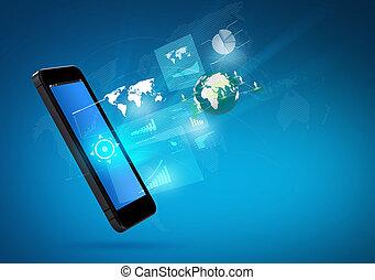 Moderne Kommunikationstechnologie-Handy