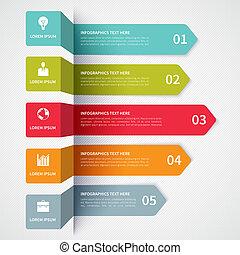 Moderne minimalistische Infographics Banner