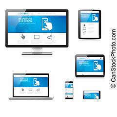 Moderne responsive Web-Design Computer.