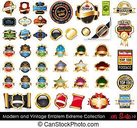 Moderne und klassische Embleme sind extrem.